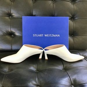 Stuart Weitzman Leather Slip On Mules